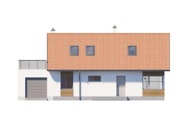 Zobacz powiększenie elewacji frontowej - projekt Royan V