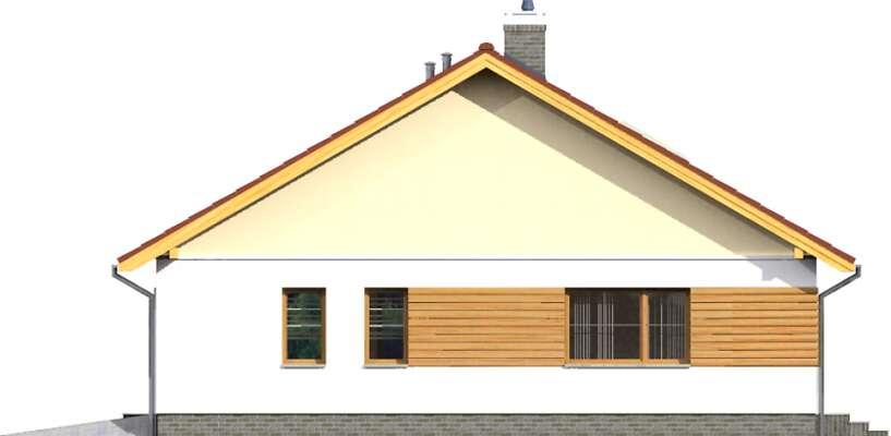 Elewacja boczna prawa - projekt Aosta II