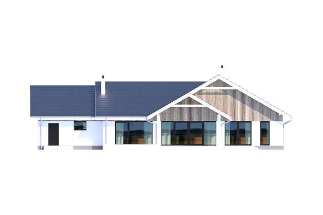 Zobacz powiększenie elewacji ogrodowej - projekt Noordwijk