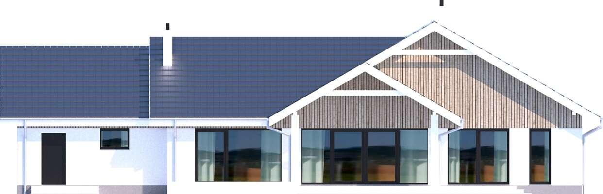Elewacja ogrodowa - projekt Noordwijk