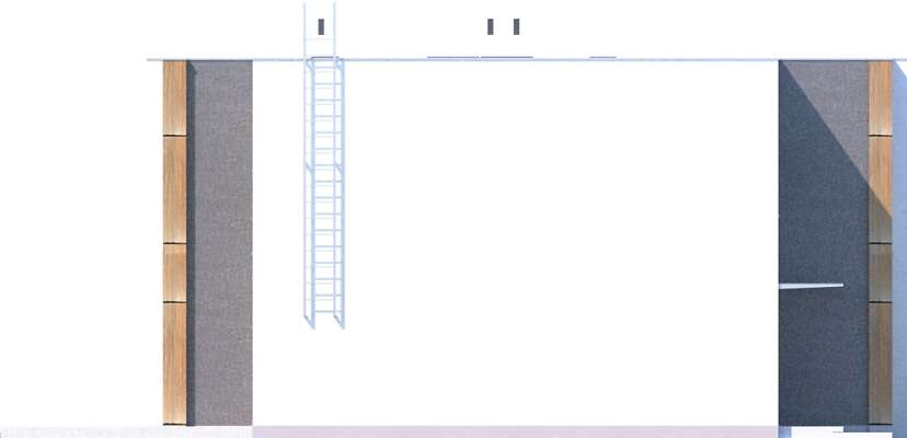 Elewacja boczna lewa - projekt Springfield III