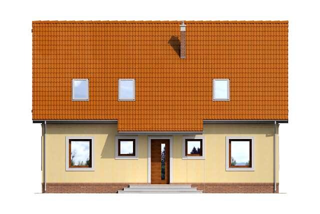 Zobacz powiększenie elewacji frontowej - projekt Lizbona