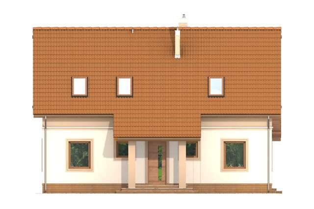 Zobacz powiększenie elewacji frontowej - projekt Lizbona II
