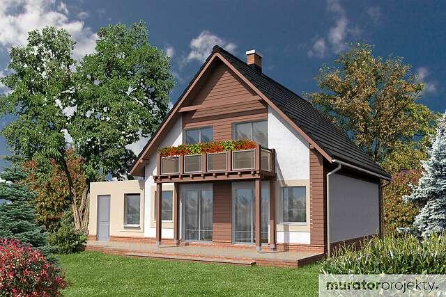 Zobacz powiększenie wizualizacji ogrodowej - projekt Ustronny I w.e