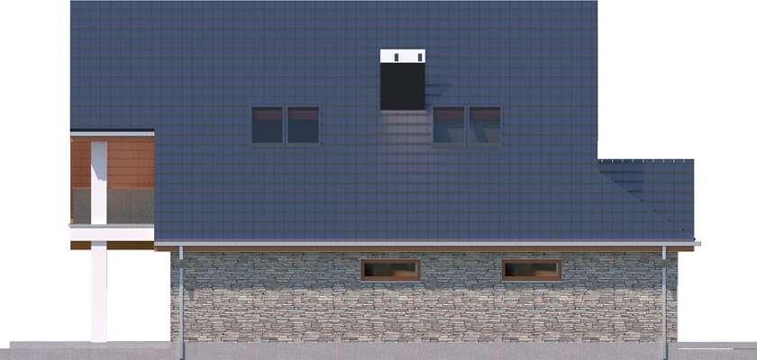 Elewacja boczna lewa - projekt Lagos IV