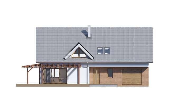 Zobacz powiększenie elewacji frontowej - projekt Tokio VII