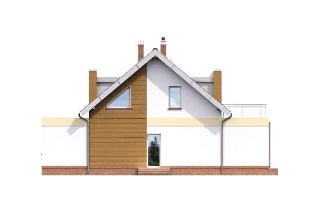 Zobacz powiększenie elewacji bocznej prawej - projekt Essen III