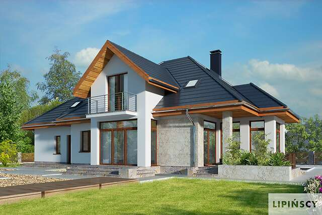 Zobacz powiększenie wizualizacji ogrodowej - projekt Dijon V