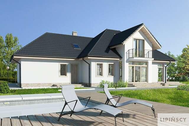 Zobacz powiększenie wizualizacji ogrodowej - projekt Dijon VI