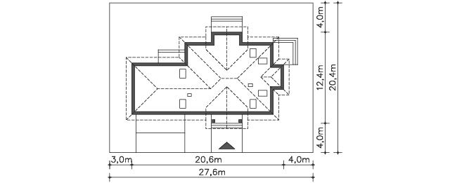 Działka - projekt Dijon VI
