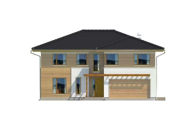 Zobacz powiększenie elewacji frontowej - projekt Canberra