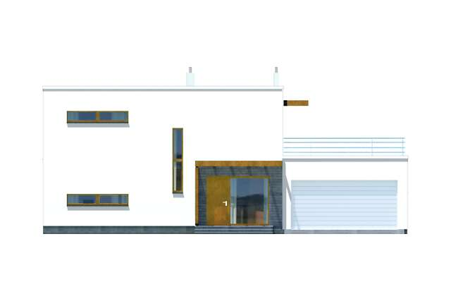 Zobacz powiększenie elewacji bocznej lewej - projekt Belfast II