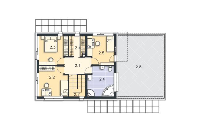 Zobacz powiększenie rzutu kondygnacji Piętro - projekt Belfast III