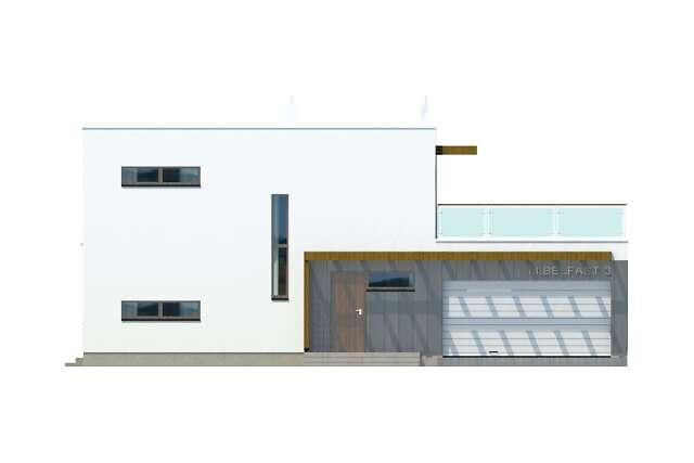 Zobacz powiększenie elewacji frontowej - projekt Belfast III