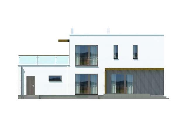 Zobacz powiększenie elewacji ogrodowej - projekt Belfast III