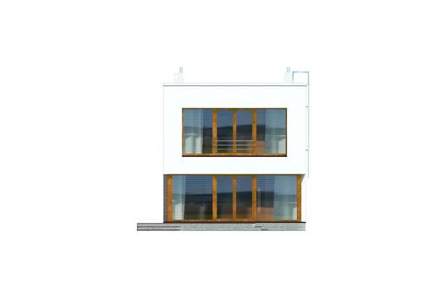 Zobacz powiększenie elewacji ogrodowej - projekt Tottori