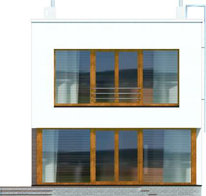 Elewacja ogrodowa - projekt Tottori