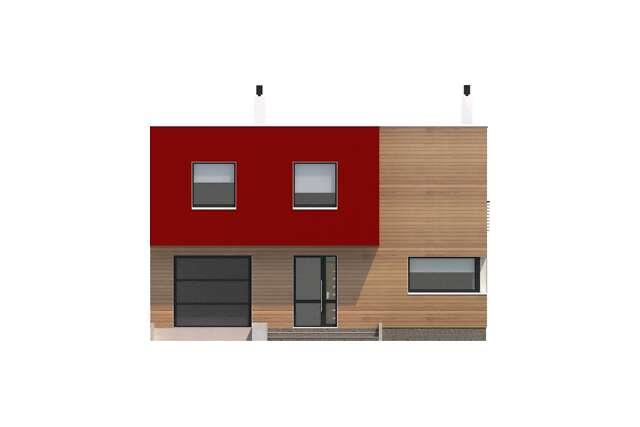 Zobacz powiększenie elewacji frontowej - projekt Delft II