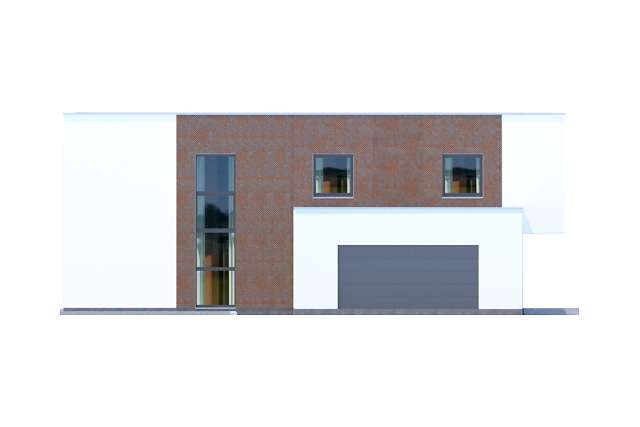 Zobacz powiększenie elewacji bocznej lewej - projekt Delft IV