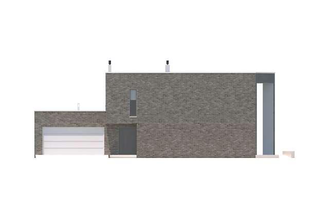 Zobacz powiększenie elewacji frontowej - projekt Limerick