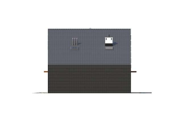 Zobacz powiększenie elewacji bocznej prawej - projekt Temerin II