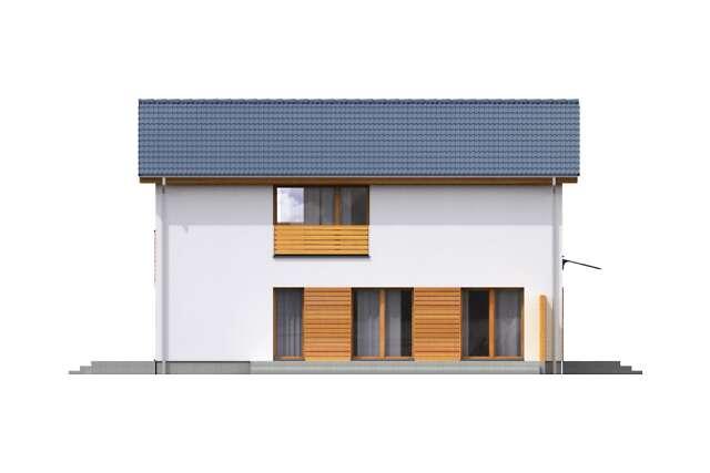 Zobacz powiększenie elewacji bocznej prawej - projekt Sendai