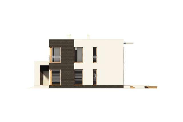 Zobacz powiększenie elewacji bocznej prawej - projekt Carrara