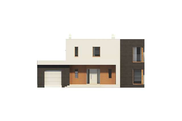 Zobacz powiększenie elewacji frontowej - projekt Carrara