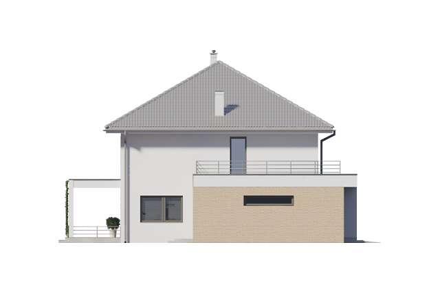 Zobacz powiększenie elewacji bocznej lewej - projekt Carrara III
