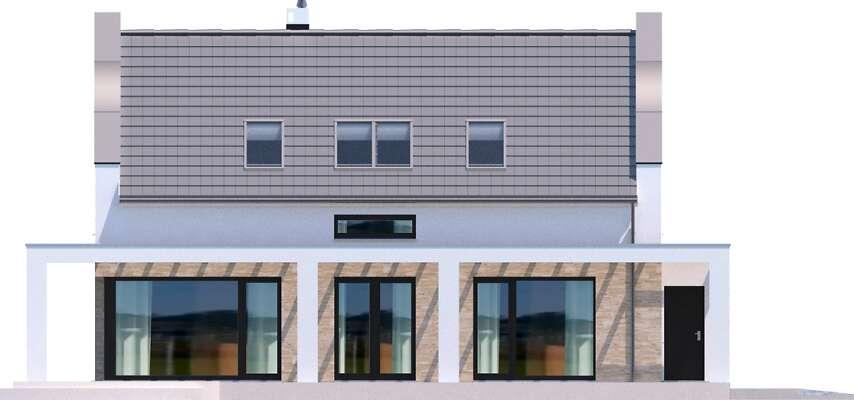 Elewacja boczna lewa - projekt Bergamo II