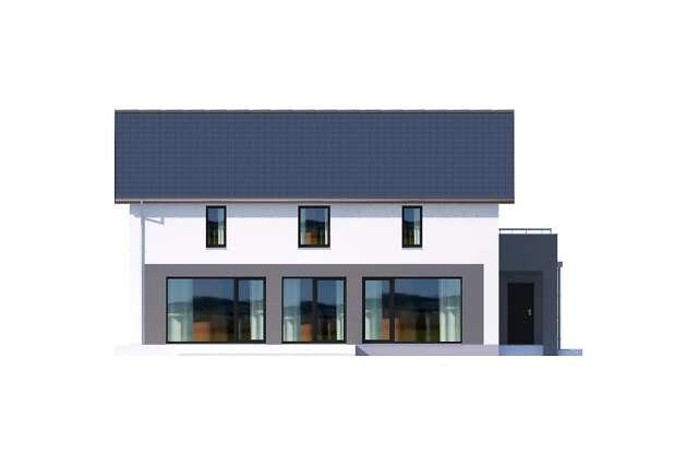 Zobacz powiększenie elewacji bocznej lewej - projekt Bergamo III