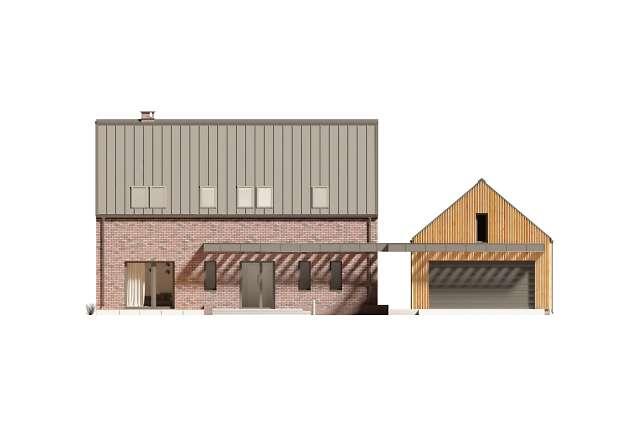 Zobacz powiększenie elewacji frontowej - projekt Lund