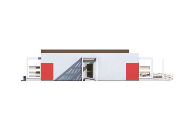 Zobacz powiększenie elewacji bocznej lewej - projekt Budynek agroturystyczny Jesion