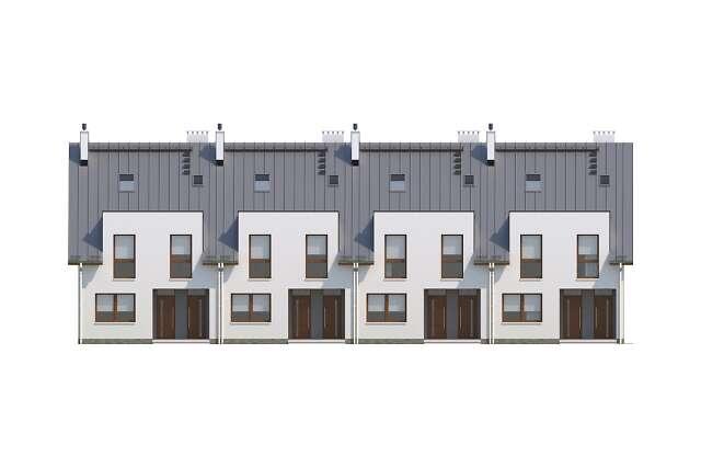 Zobacz powiększenie elewacji frontowej - projekt Almere