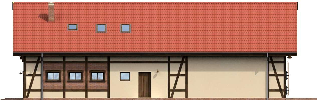 Elewacja ogrodowa - projekt Budynek usługowy Orzeł