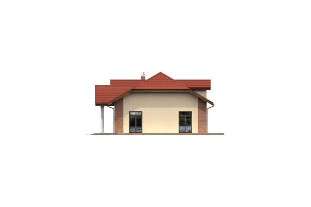 Zobacz powiększenie elewacji bocznej prawej - projekt Budynek usługowy Puchacz