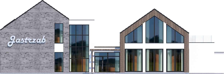 Elewacja frontowa - projekt Budynek usługowy Jastrząb