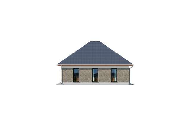 Zobacz powiększenie elewacji bocznej lewej - projekt Budynek usługowy Office 1