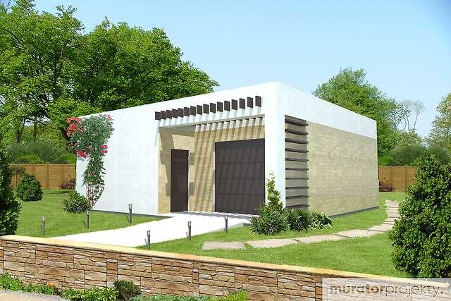 Zobacz powiększenie wizualizacji frontowej - projekt Garaż