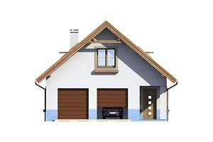 Elewacja frontowa - projekt Garaż