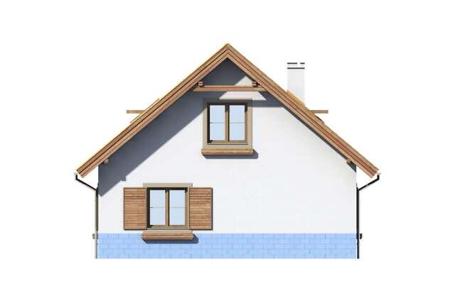 Zobacz powiększenie elewacji ogrodowej - projekt Garaż