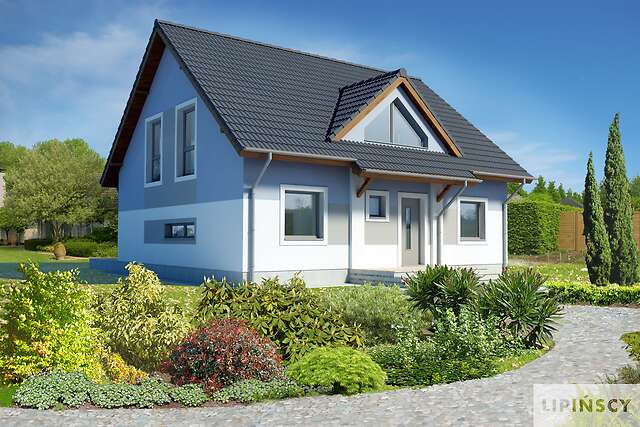 Zobacz powiększenie wizualizacji frontowej - projekt Lipińscy Dom Pasywny 2