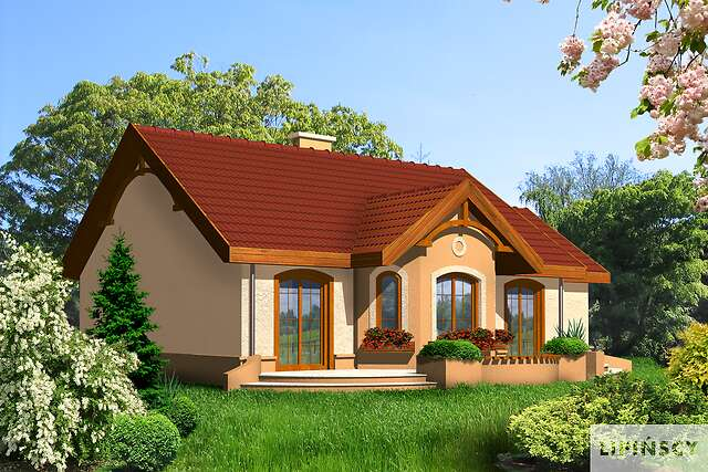 Zobacz powiększenie wizualizacji ogrodowej - projekt Sofia