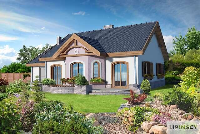 Zobacz powiększenie wizualizacji ogrodowej - projekt Sofia V