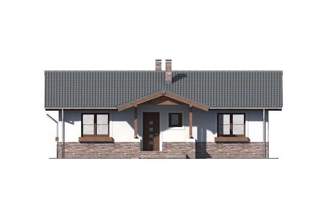 Zobacz powiększenie elewacji frontowej - projekt Aspen