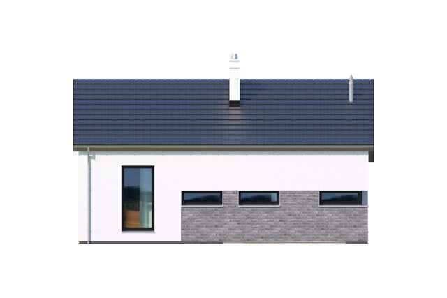 Zobacz powiększenie elewacji ogrodowej - projekt Filigranowy w.IV