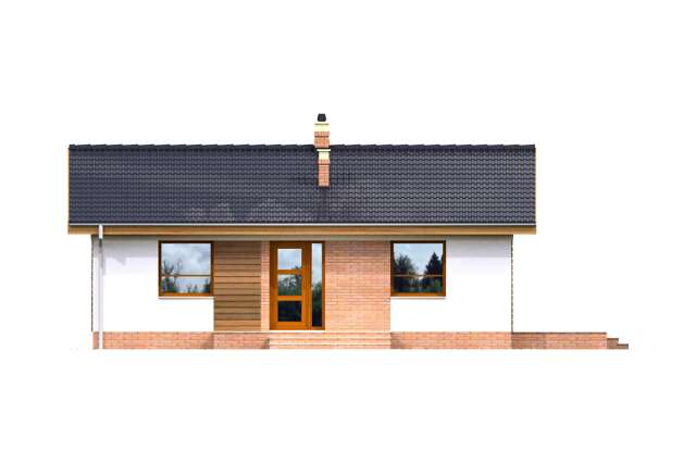 Zobacz powiększenie elewacji frontowej - projekt Cavalino