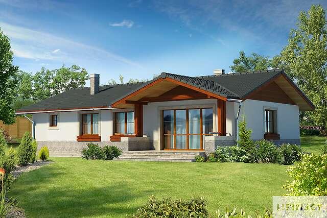 Zobacz powiększenie wizualizacji ogrodowej - projekt Asti II