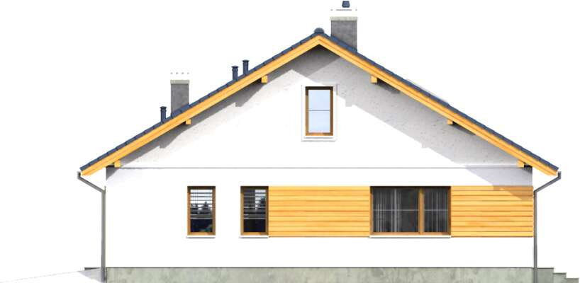 Elewacja boczna prawa - projekt Aosta