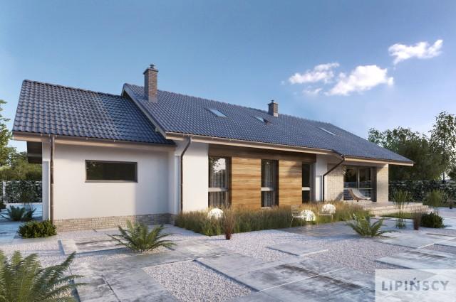 Zobacz powiększenie wizualizacji ogrodowej - projekt Arosa III